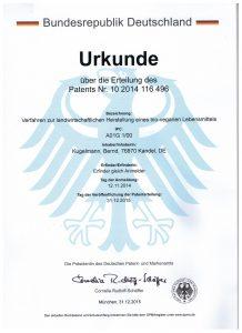 Patent Nr. 10 2014 116 496